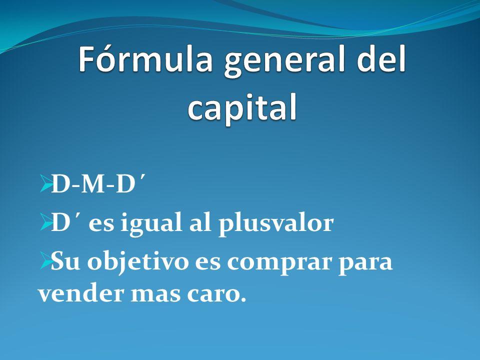 Fórmula general del capital
