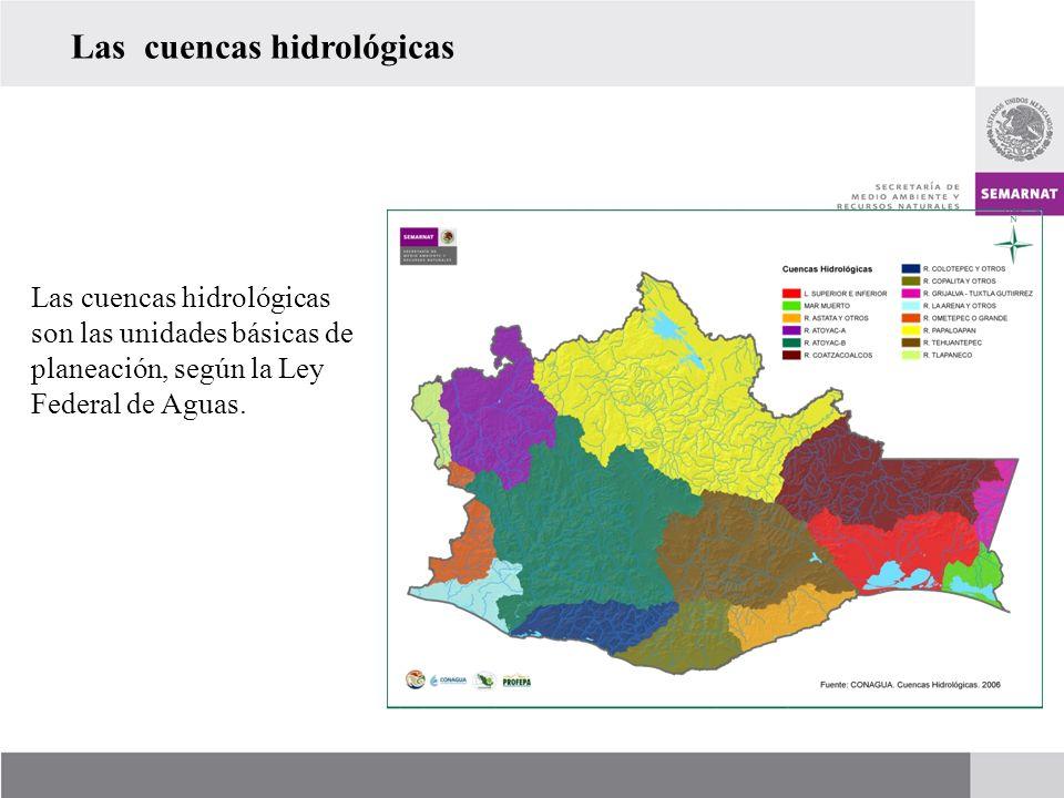 Las cuencas hidrológicas