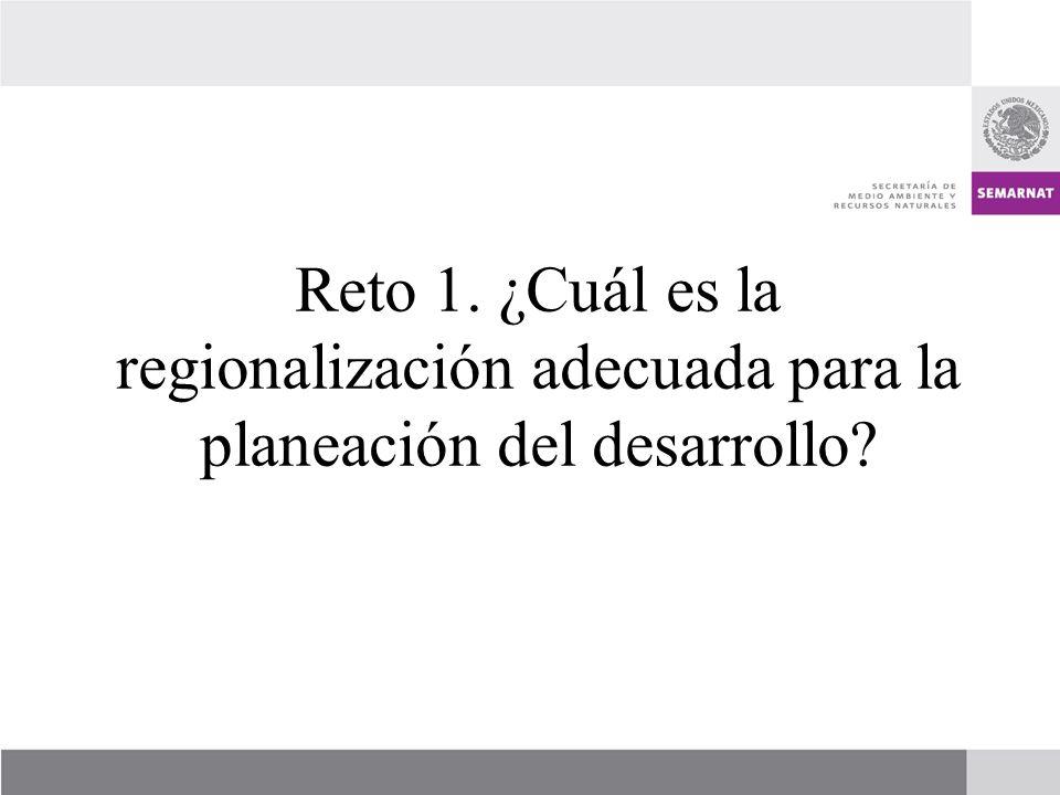 Reto 1. ¿Cuál es la regionalización adecuada para la planeación del desarrollo