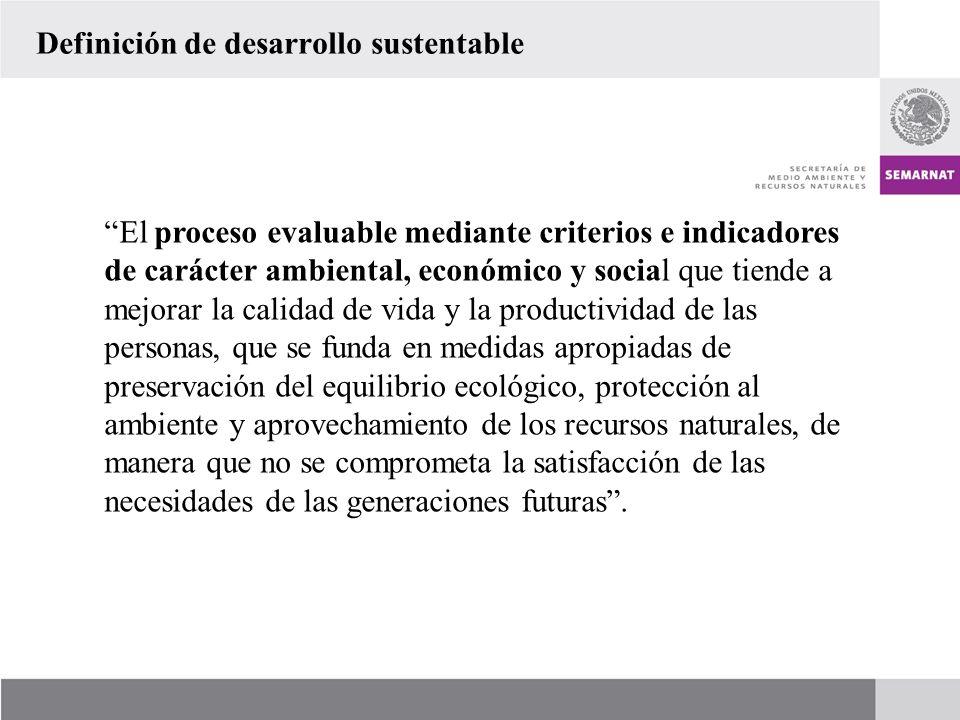 Definición de desarrollo sustentable