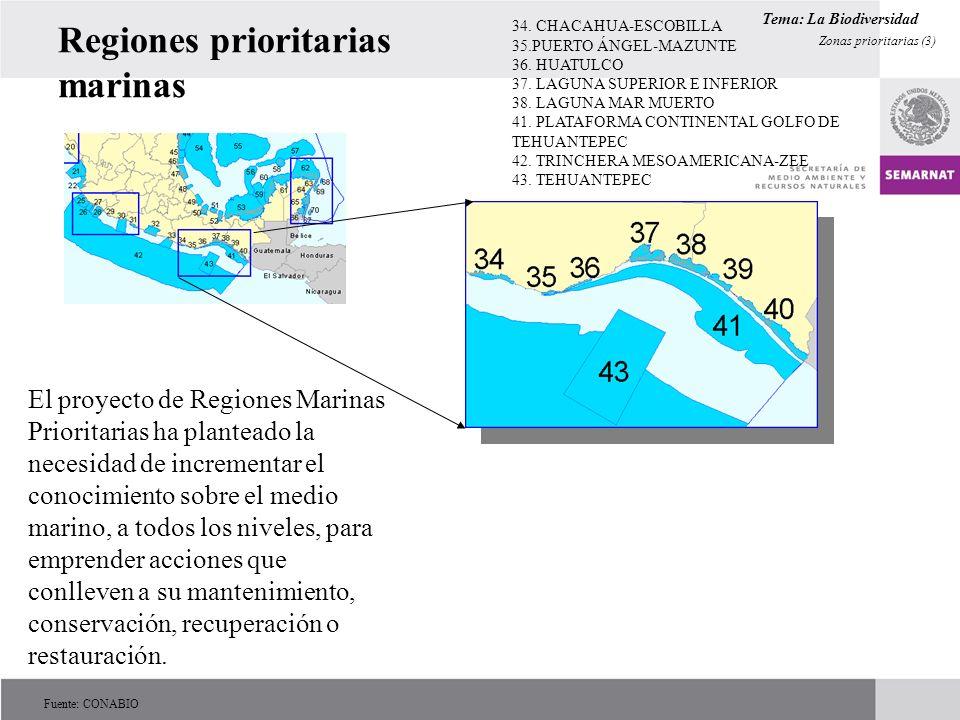 Regiones prioritarias marinas