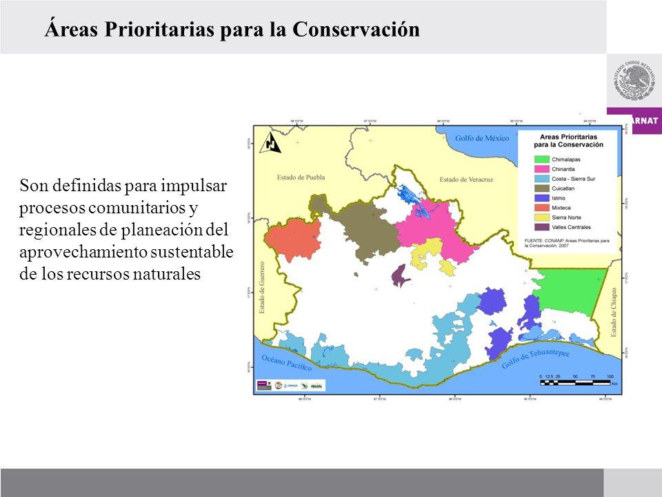 Áreas Prioritarias para la Conservación