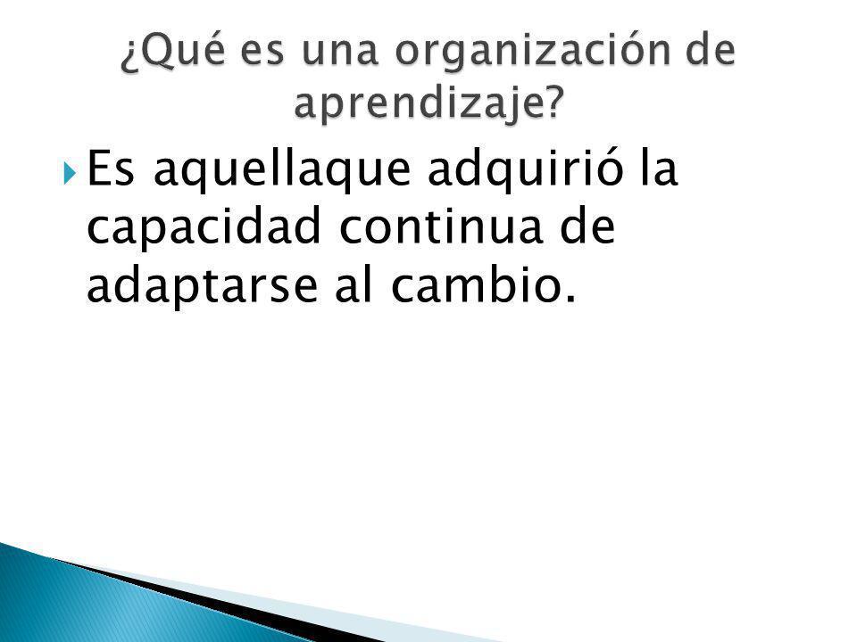 ¿Qué es una organización de aprendizaje