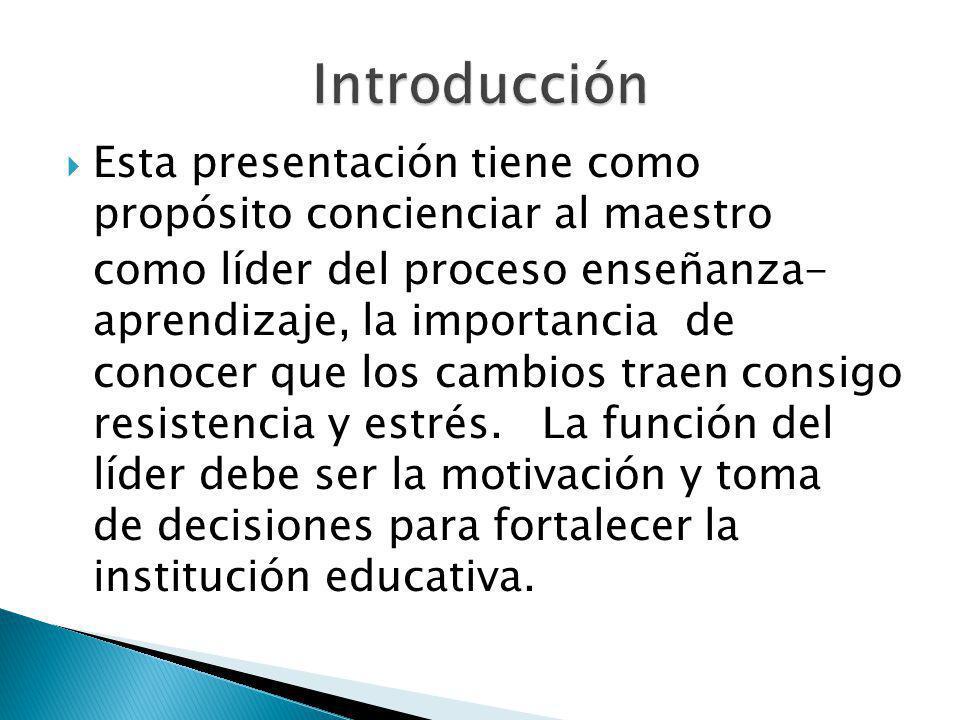 Introducción Esta presentación tiene como propósito concienciar al maestro.