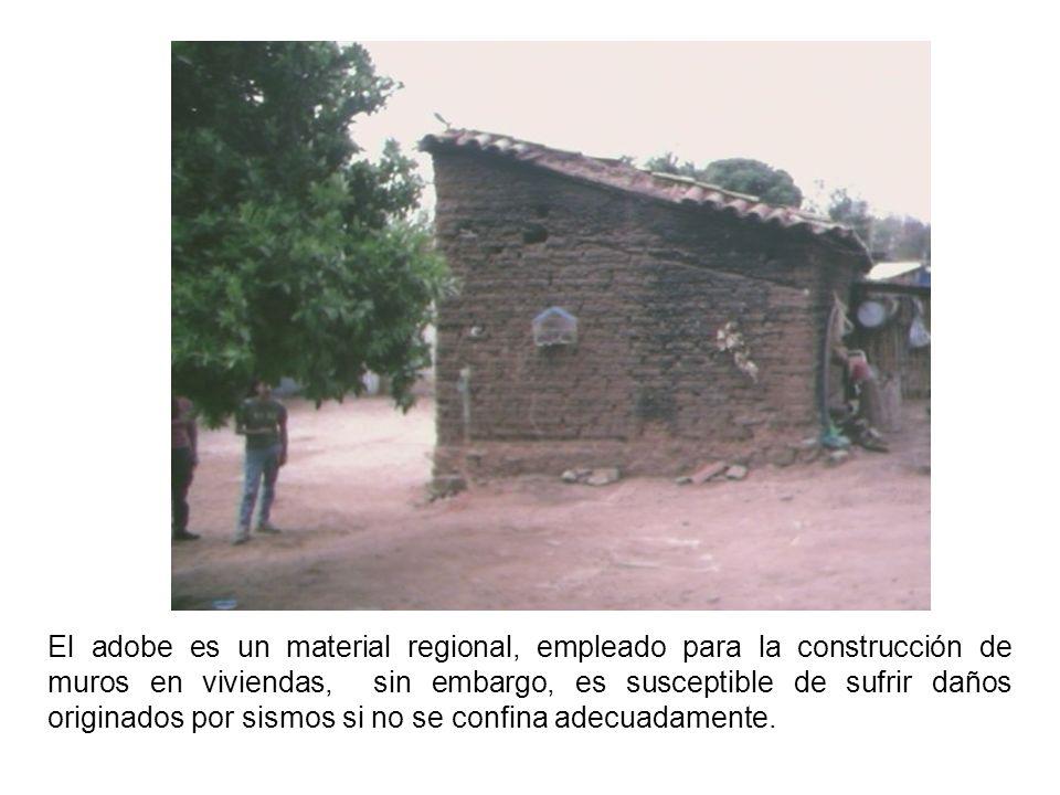 El adobe es un material regional, empleado para la construcción de muros en viviendas, sin embargo, es susceptible de sufrir daños originados por sismos si no se confina adecuadamente.
