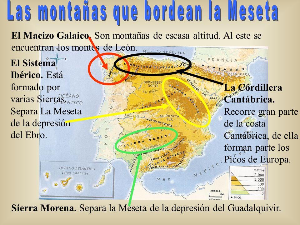 Las montañas que bordean la Meseta