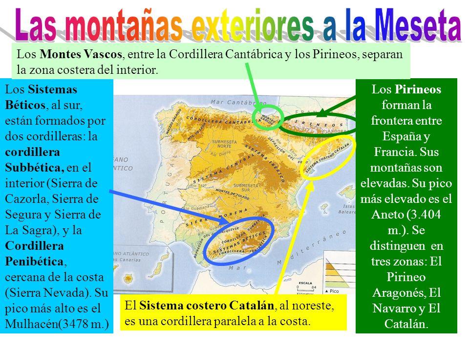Las montañas exteriores a la Meseta
