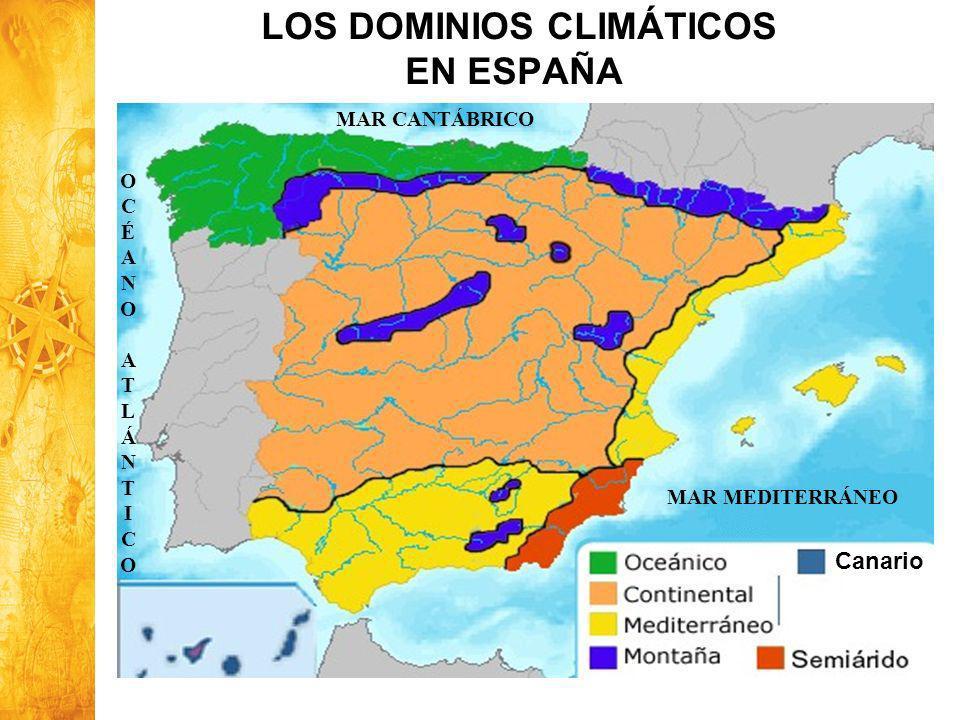 LOS DOMINIOS CLIMÁTICOS EN ESPAÑA
