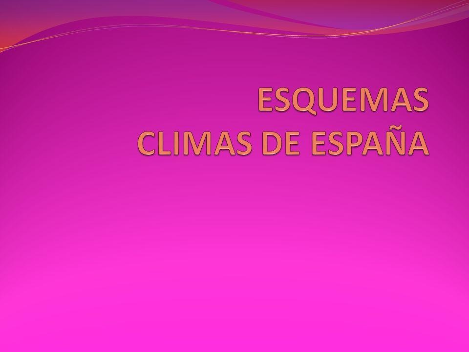 ESQUEMAS CLIMAS DE ESPAÑA