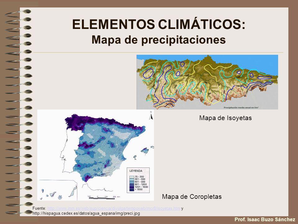 ELEMENTOS CLIMÁTICOS: Mapa de precipitaciones