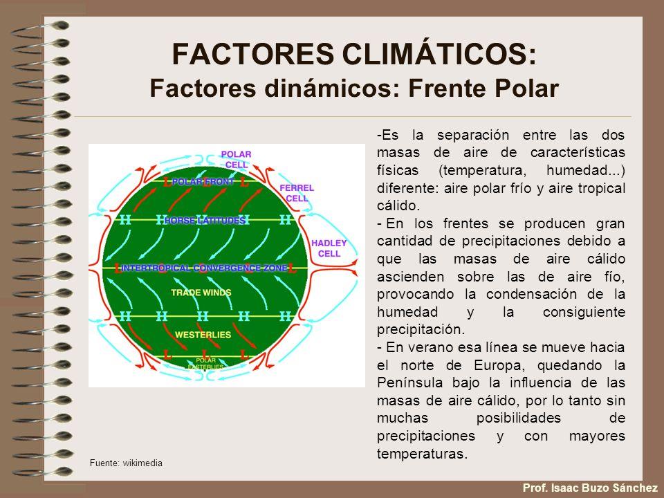 FACTORES CLIMÁTICOS: Factores dinámicos: Frente Polar