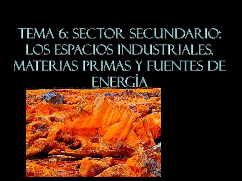 TEMA 6: Sector Secundario: los espacios industriales