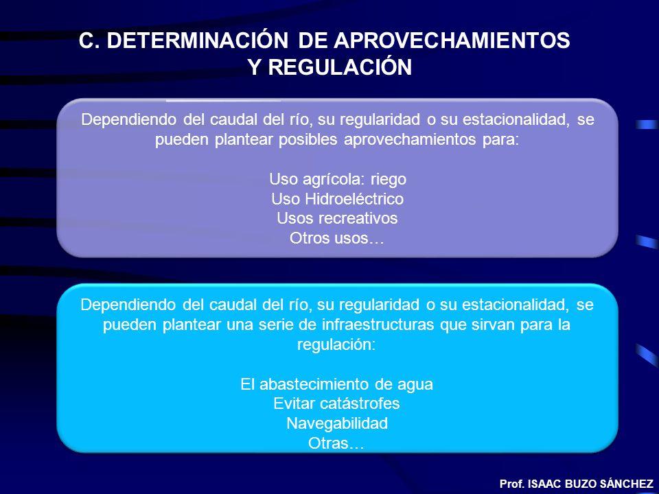 C. DETERMINACIÓN DE APROVECHAMIENTOS