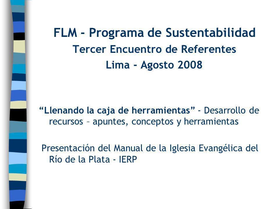 FLM - Programa de Sustentabilidad Tercer Encuentro de Referentes