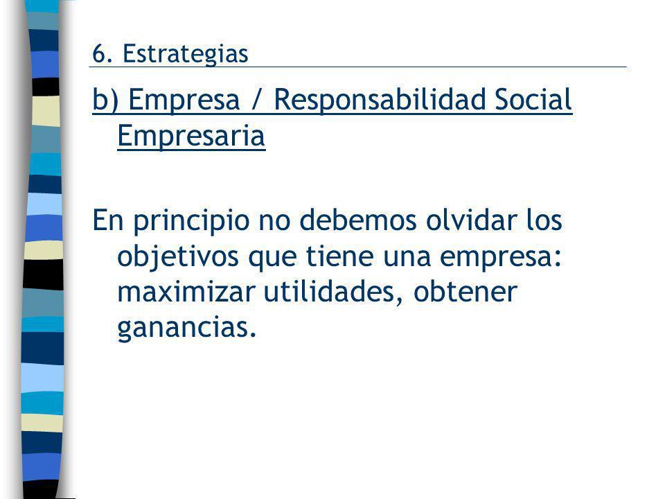 b) Empresa / Responsabilidad Social Empresaria