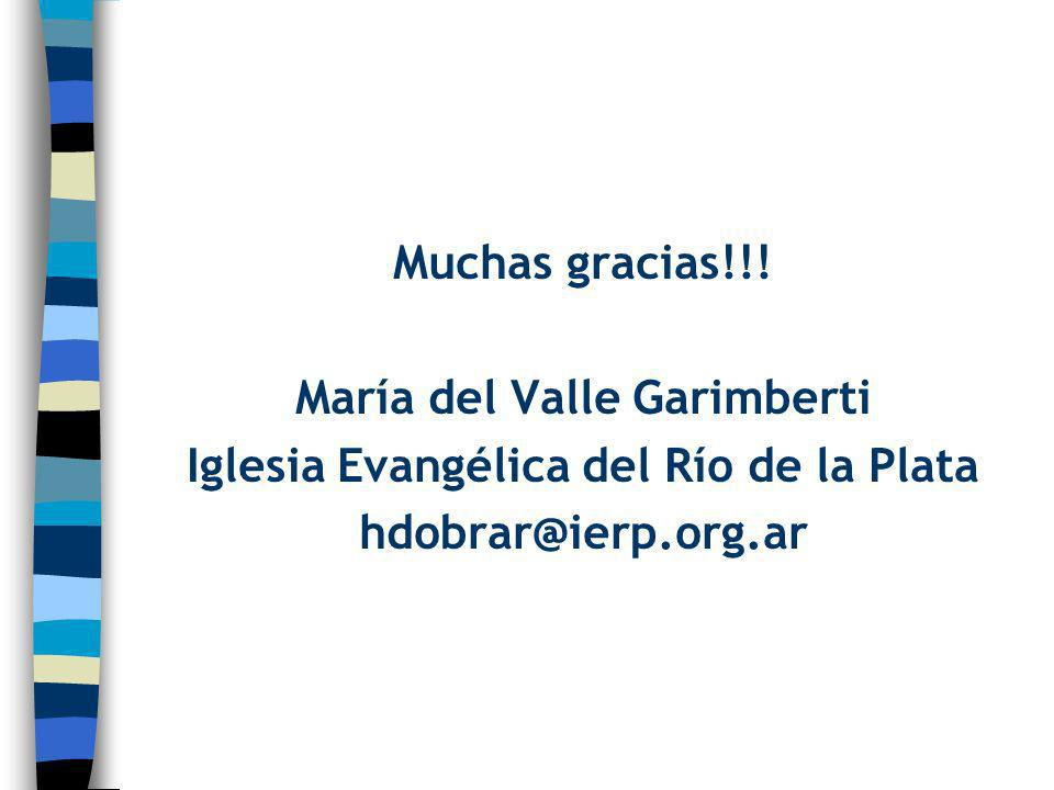 María del Valle Garimberti Iglesia Evangélica del Río de la Plata