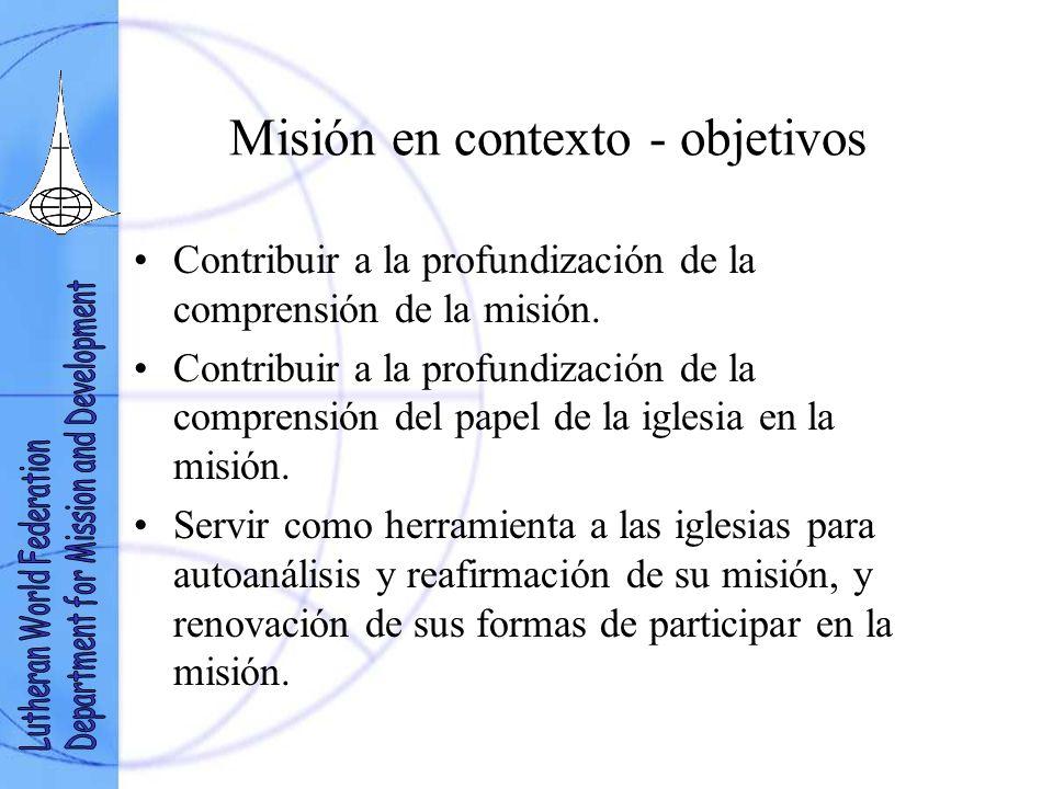 Misión en contexto - objetivos