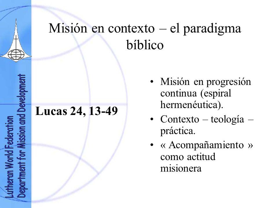 Misión en contexto – el paradigma bíblico