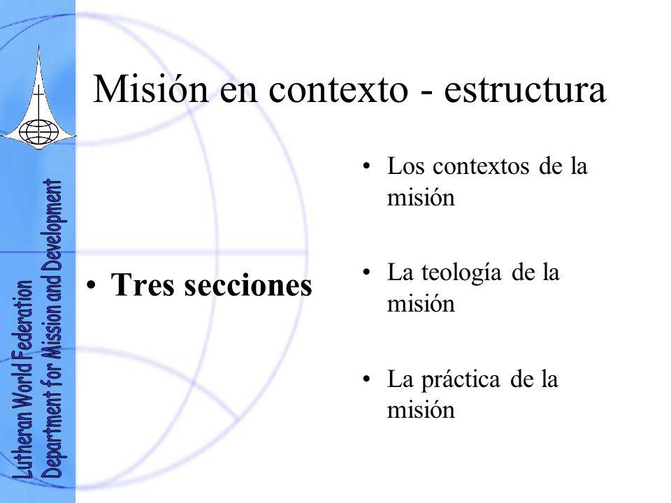 Misión en contexto - estructura