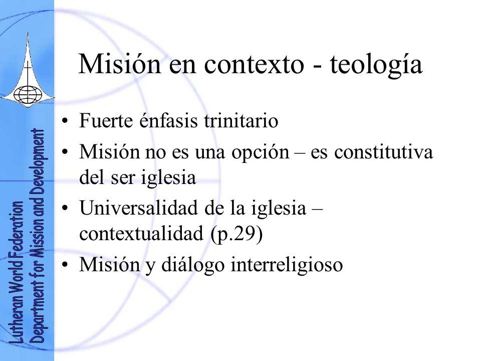 Misión en contexto - teología