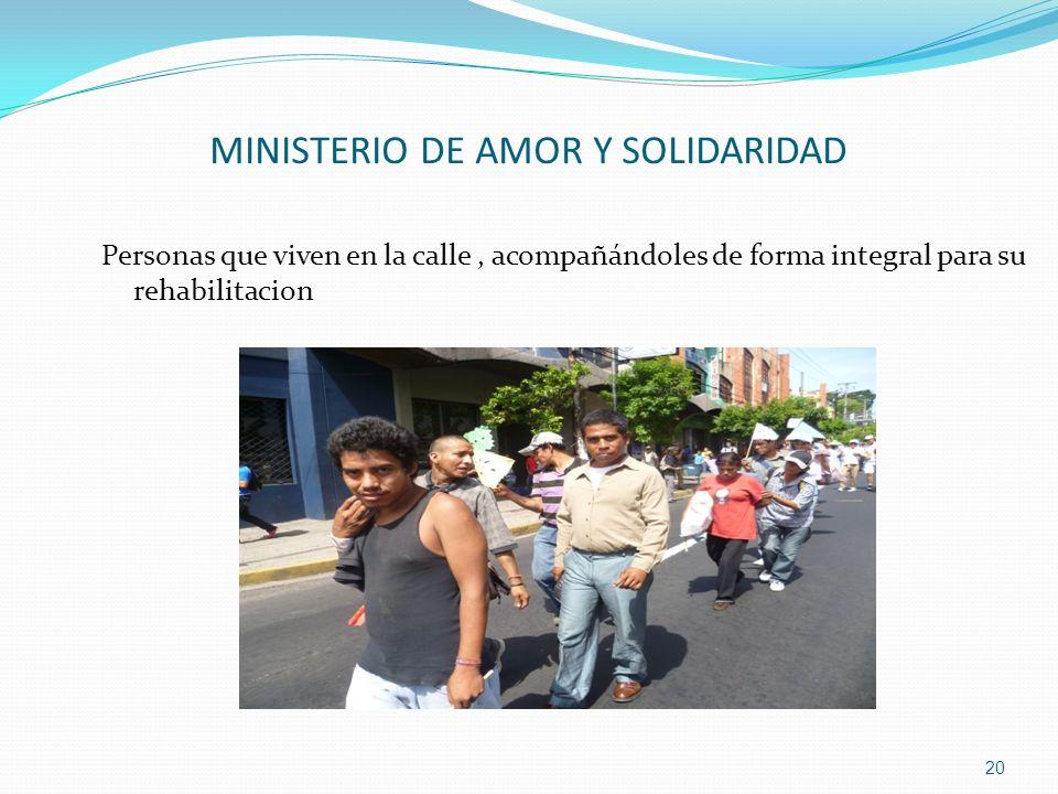 MINISTERIO DE AMOR Y SOLIDARIDAD