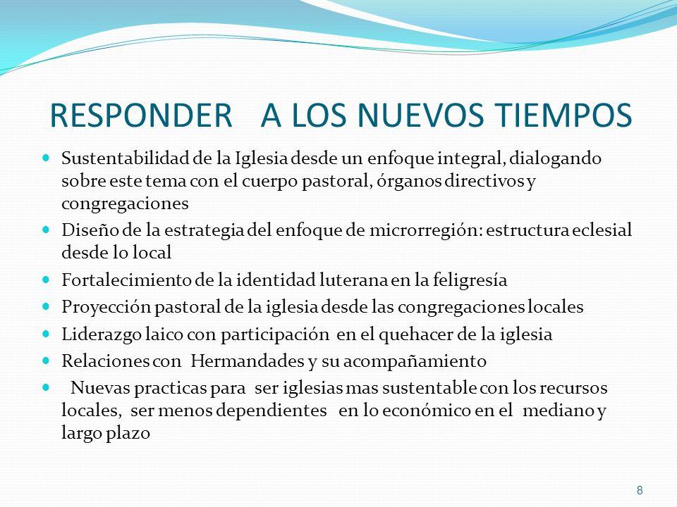 RESPONDER A LOS NUEVOS TIEMPOS