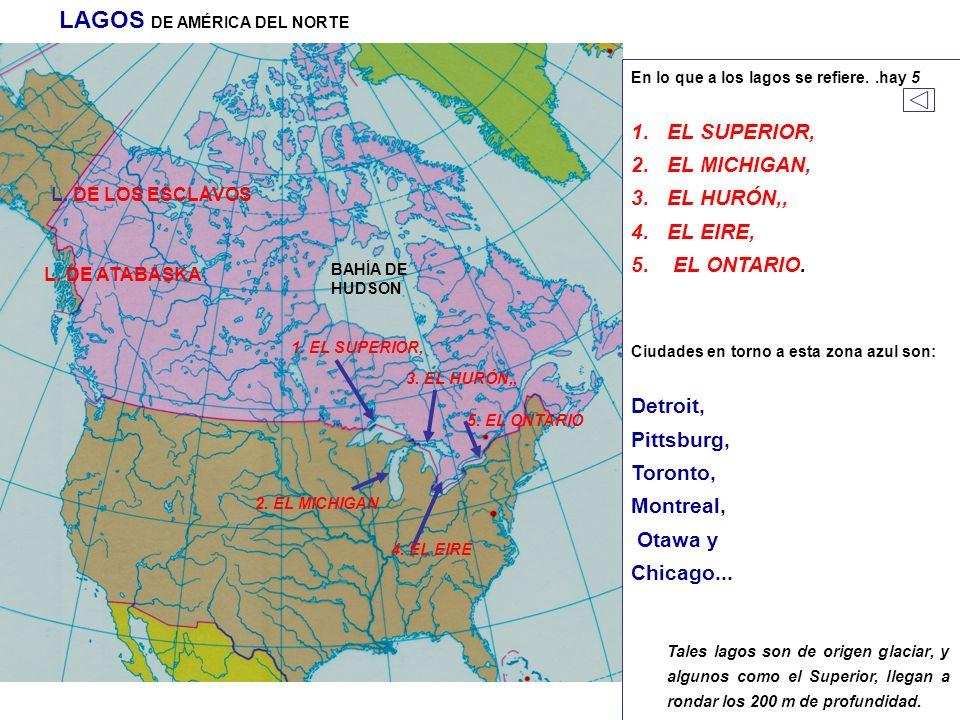 LAGOS DE AMÉRICA DEL NORTE