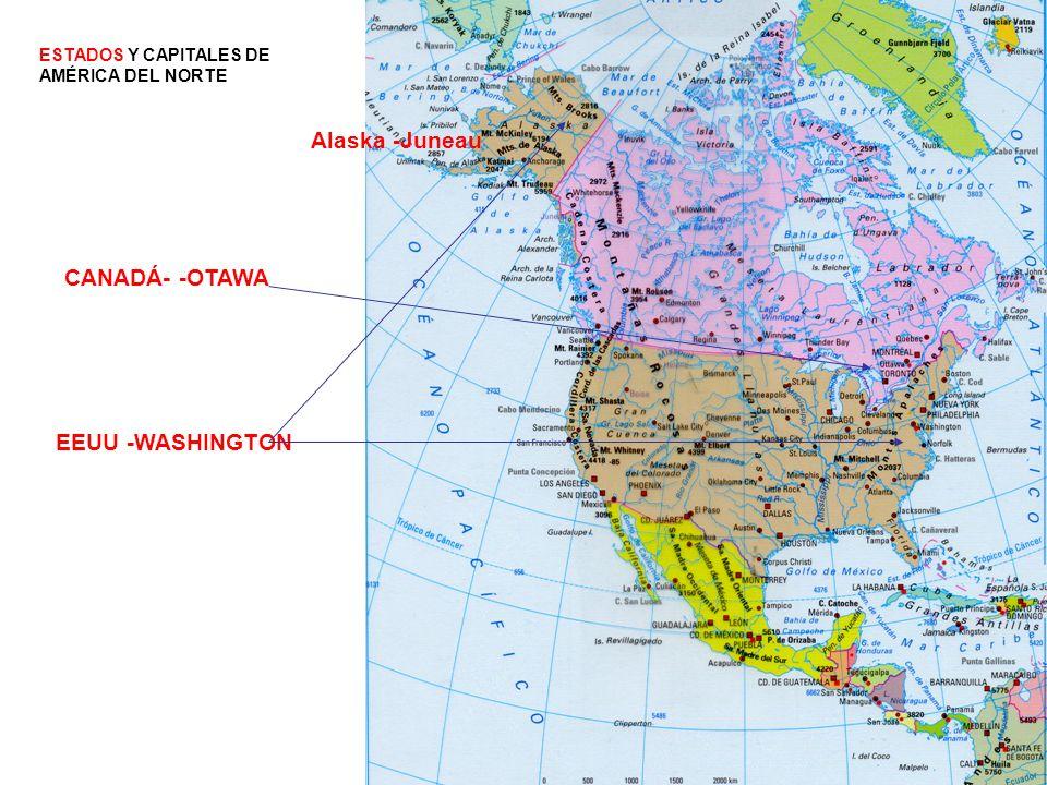 Alaska -Juneau CANADÁ- -OTAWA EEUU -WASHINGTON