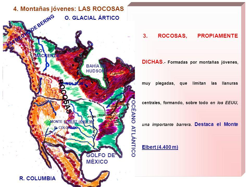 ROCOSAS 4. Montañas jóvenes: LAS ROCOSAS O. GLACIAL ÁRTICO