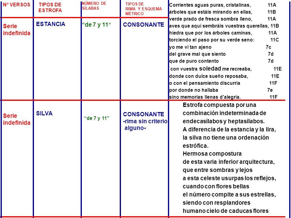 ESTANCIA Serie indefinida de 7 y 11 CONSONANTE