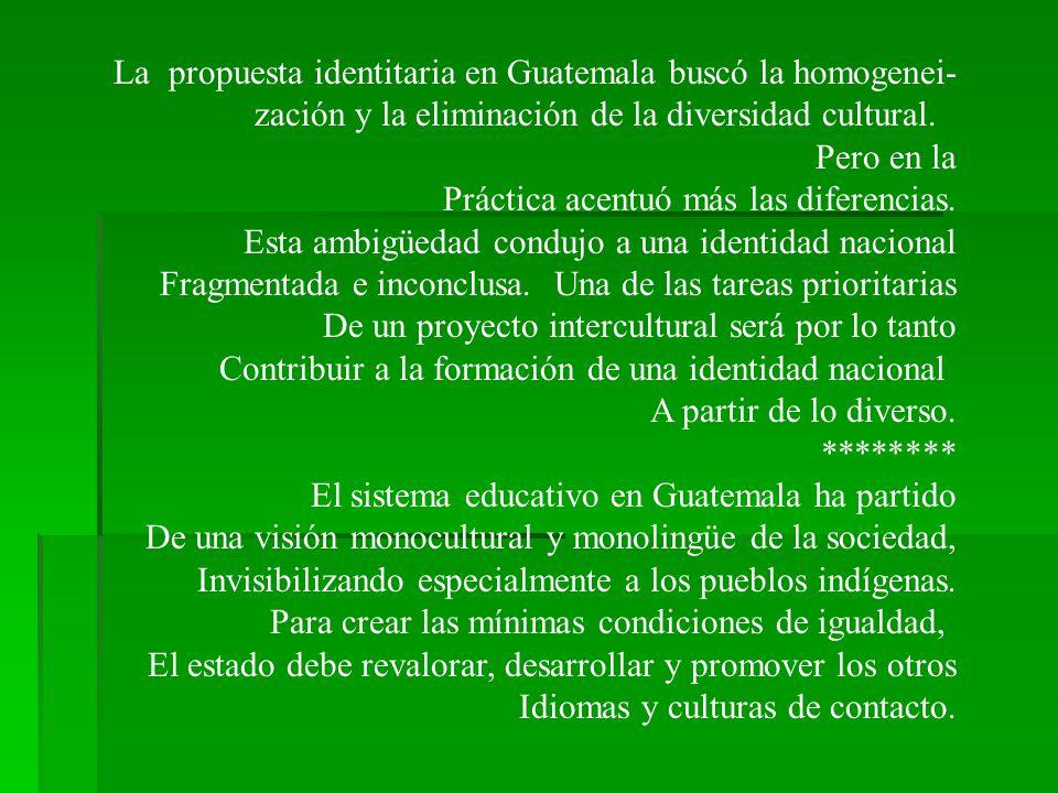 La propuesta identitaria en Guatemala buscó la homogenei-