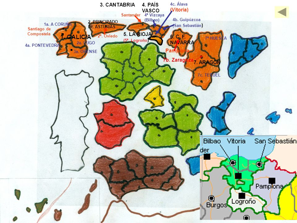 . . . 1. GALICIA 3. CANTABRIA 4. PAÍS VASCO (Vitoria) 5. LA RIOJA