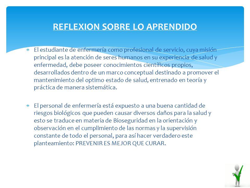 REFLEXION SOBRE LO APRENDIDO