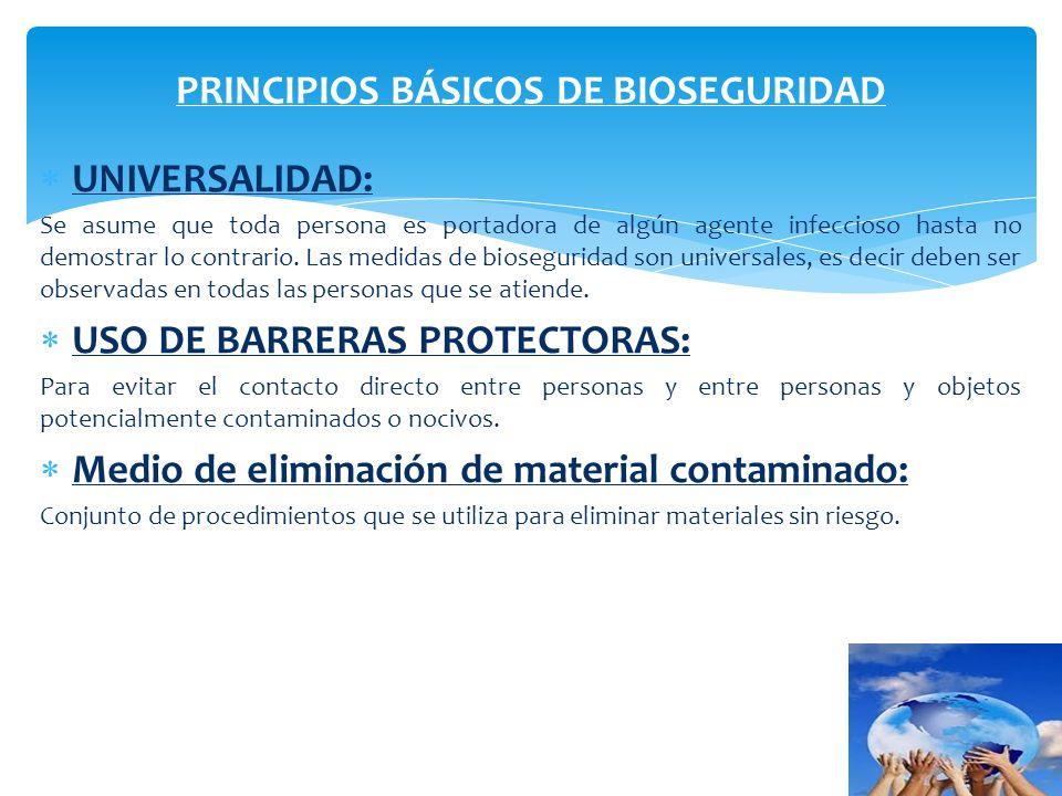 PRINCIPIOS BÁSICOS DE BIOSEGURIDAD