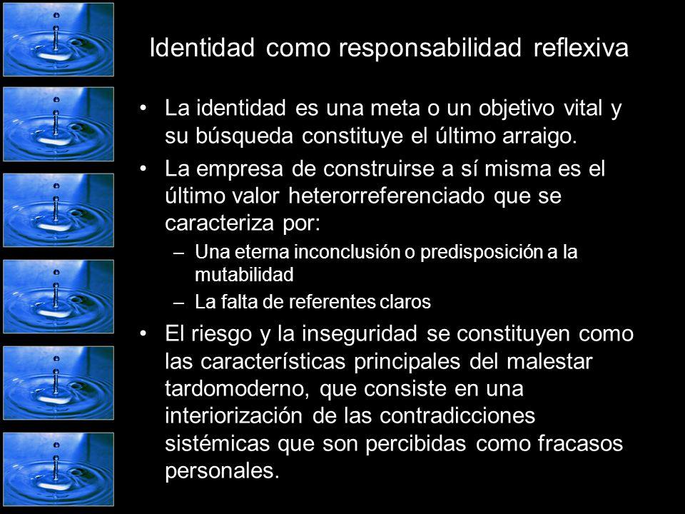 Identidad como responsabilidad reflexiva