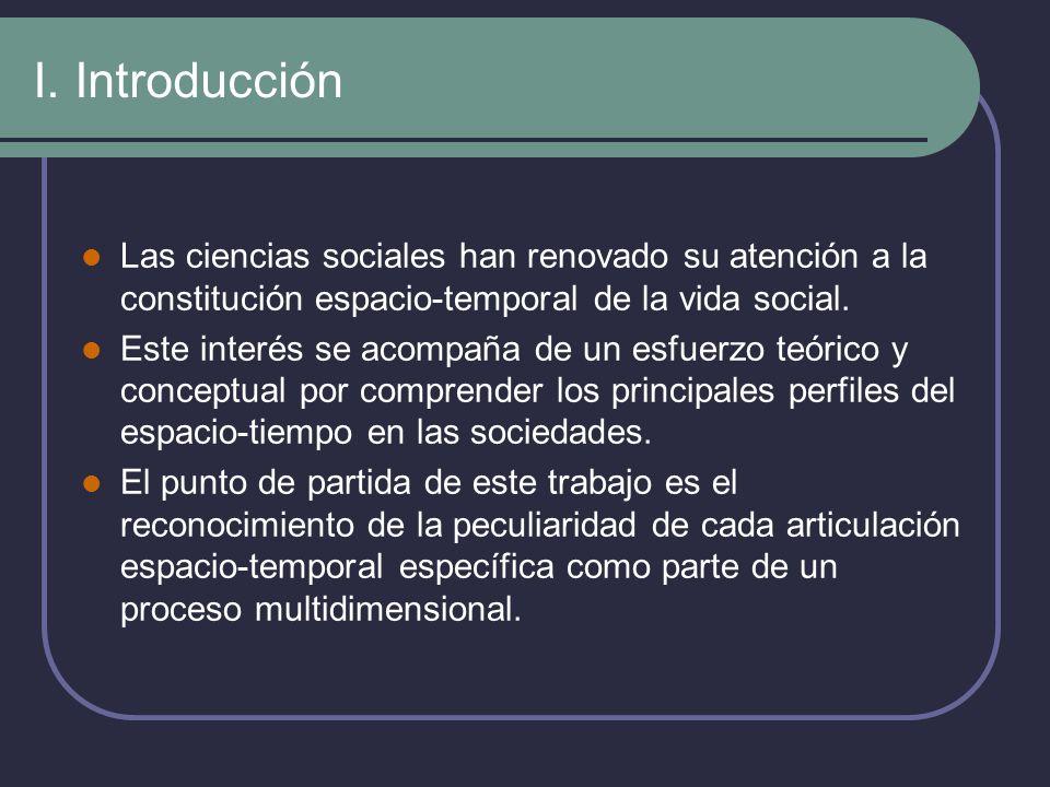 I. IntroducciónLas ciencias sociales han renovado su atención a la constitución espacio-temporal de la vida social.