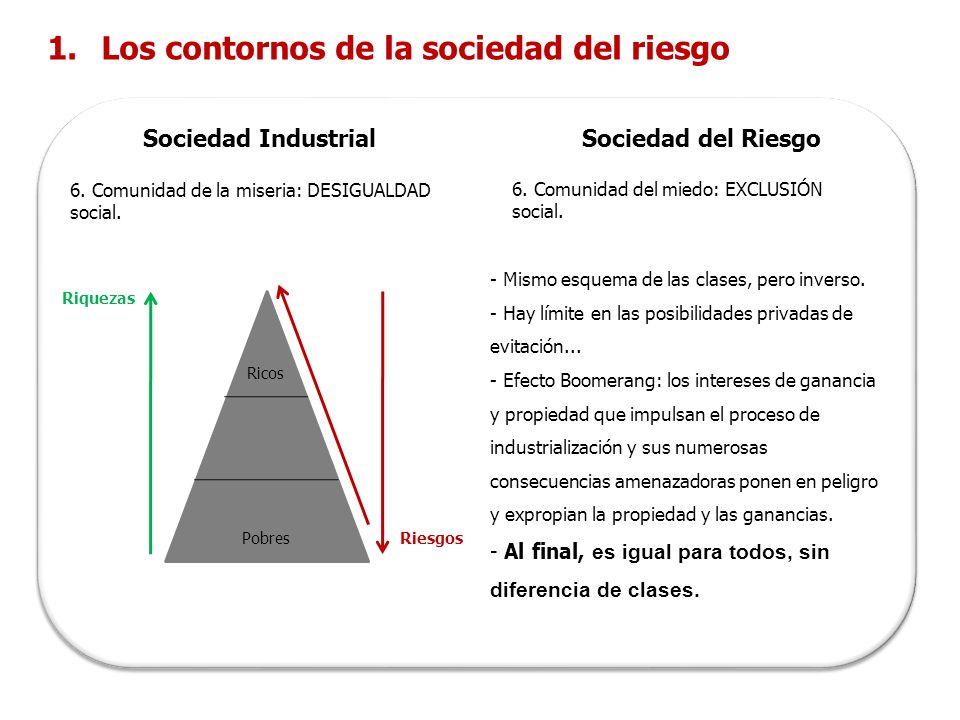 Los contornos de la sociedad del riesgo
