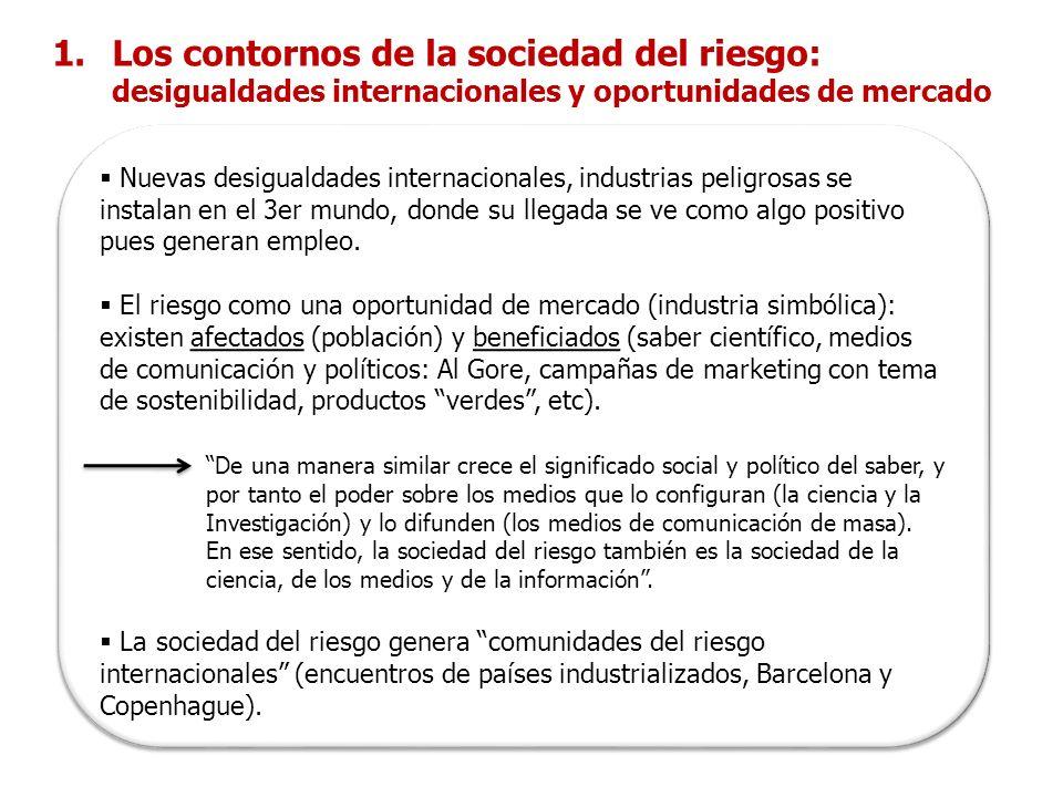 Los contornos de la sociedad del riesgo: desigualdades internacionales y oportunidades de mercado