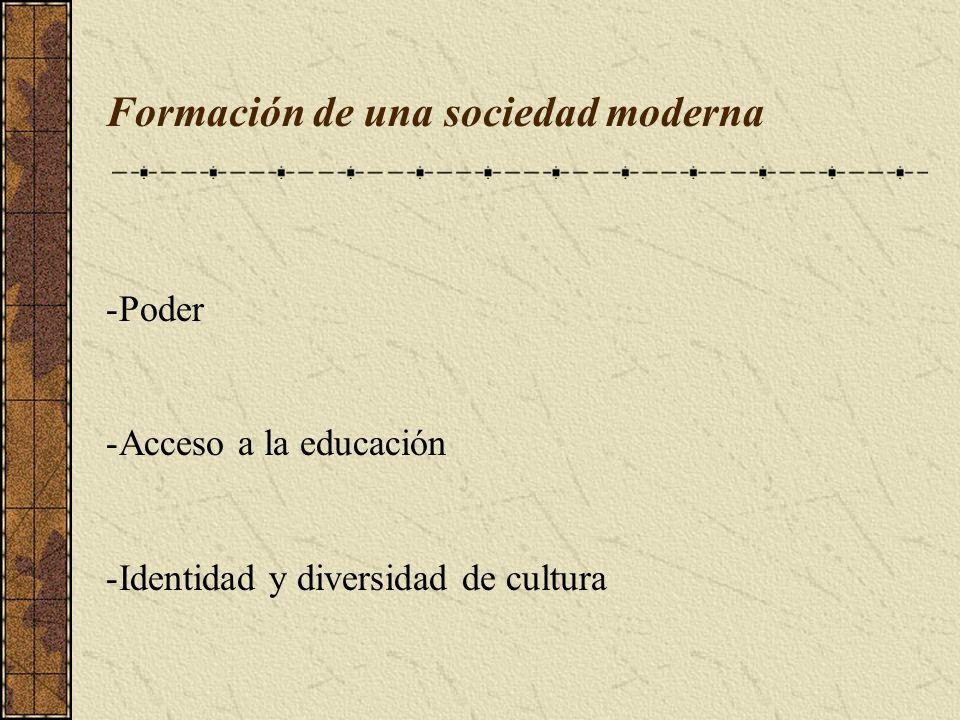 Formación de una sociedad moderna