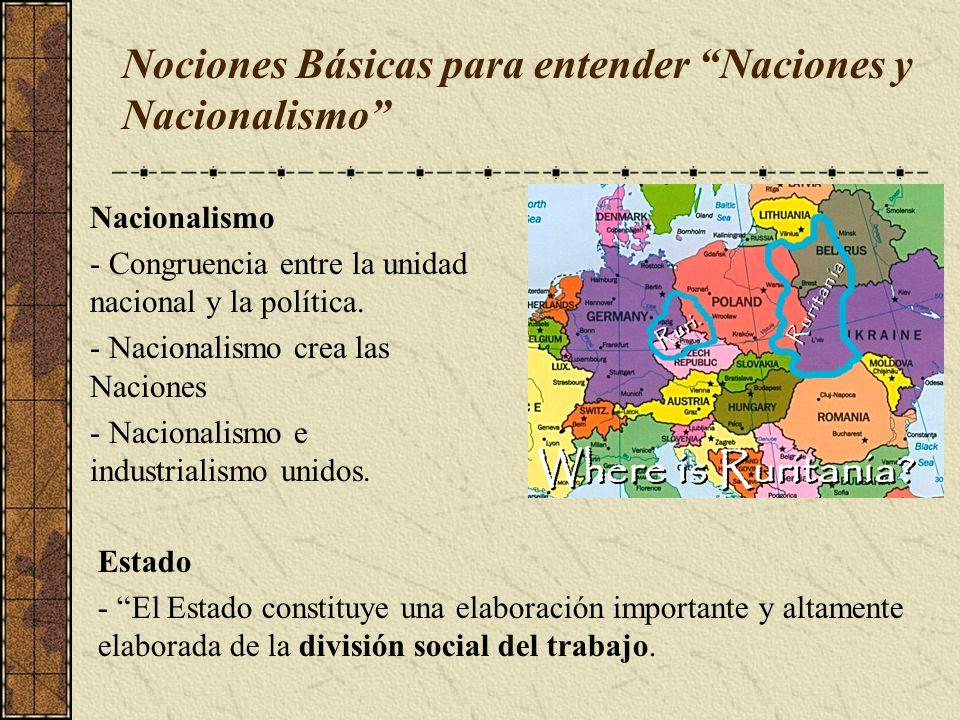 Nociones Básicas para entender Naciones y Nacionalismo
