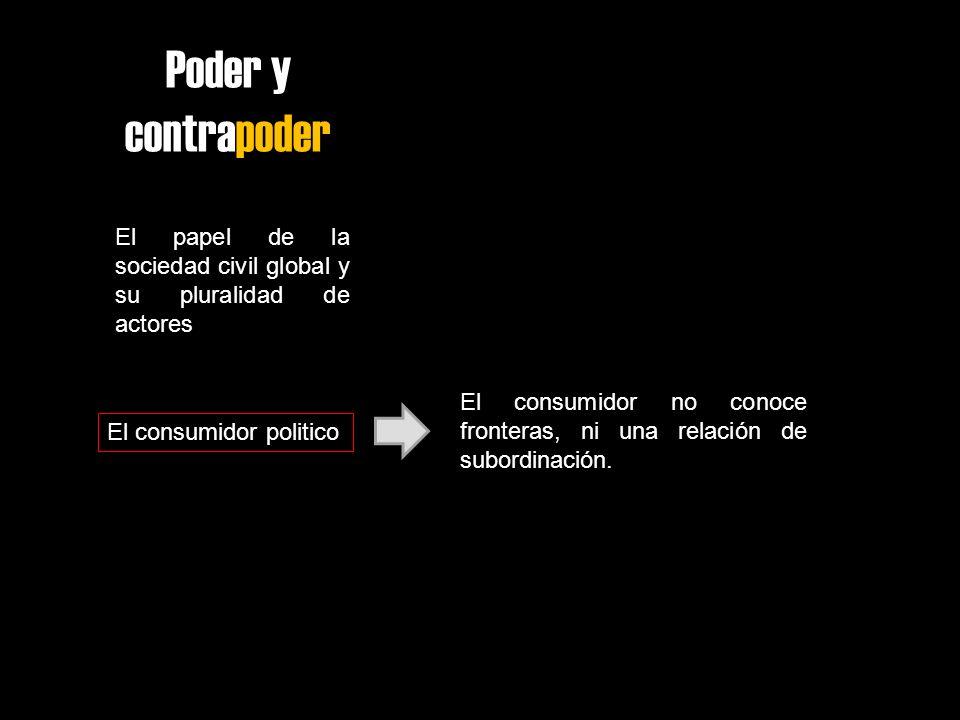 Poder y contrapoder El papel de la sociedad civil global y su pluralidad de actores.