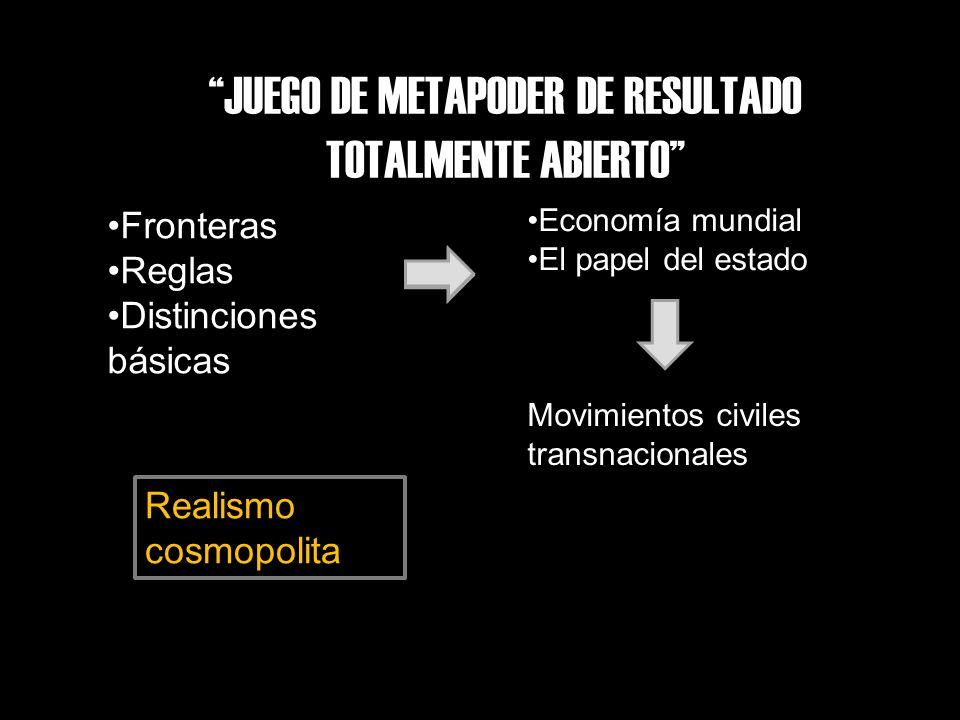 JUEGO DE METAPODER DE RESULTADO TOTALMENTE ABIERTO