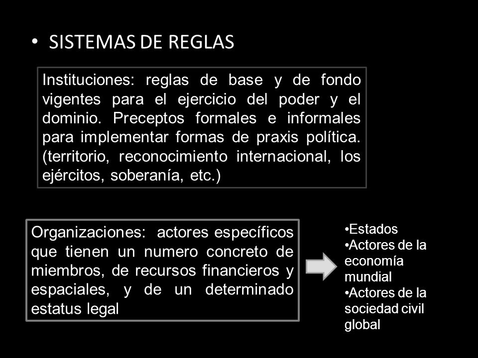 SISTEMAS DE REGLAS