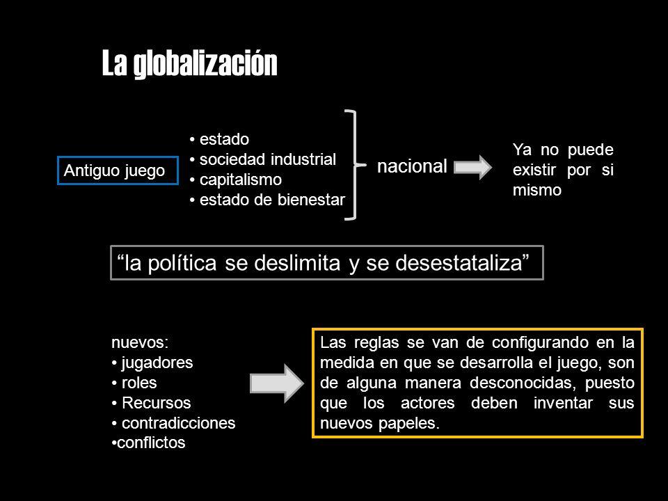 La globalización la política se deslimita y se desestataliza
