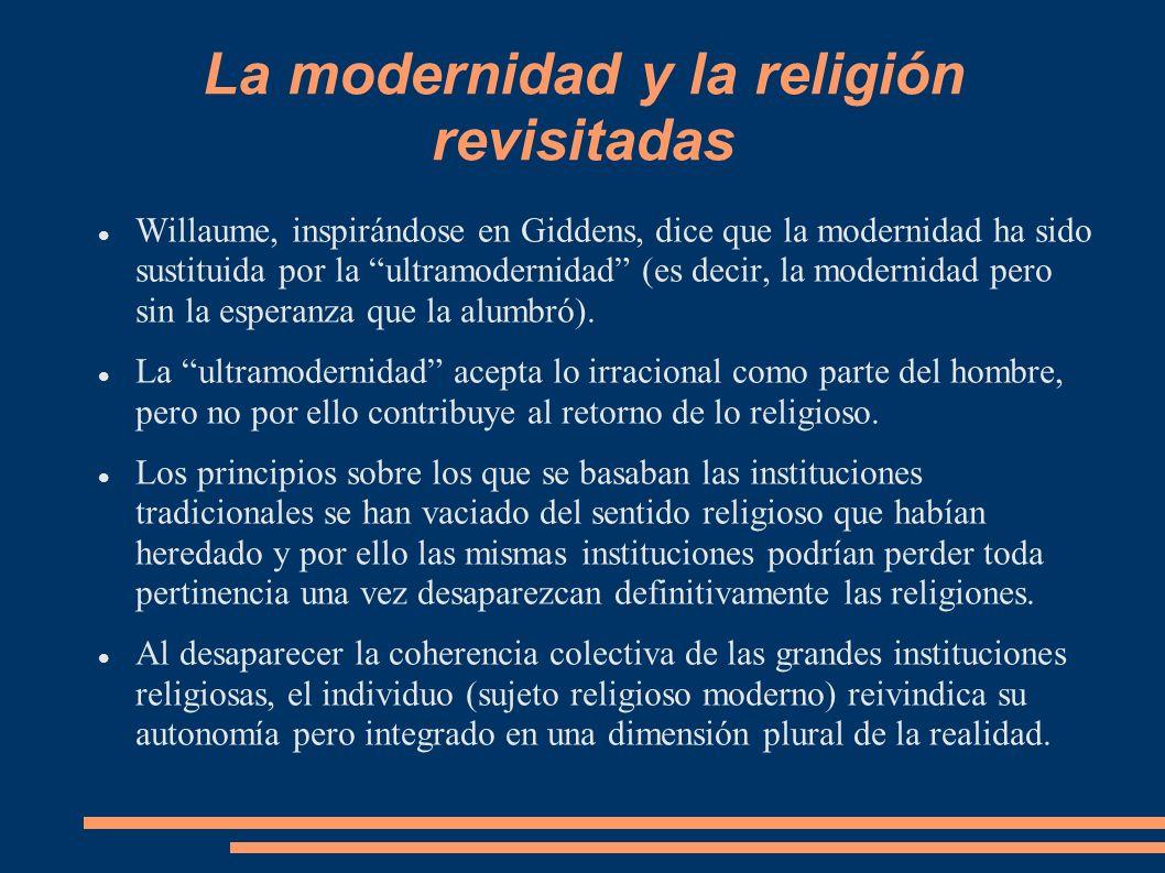 La modernidad y la religión revisitadas