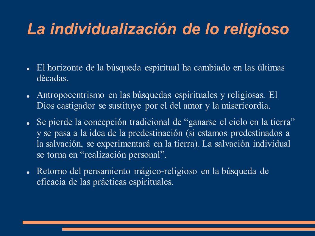 La individualización de lo religioso