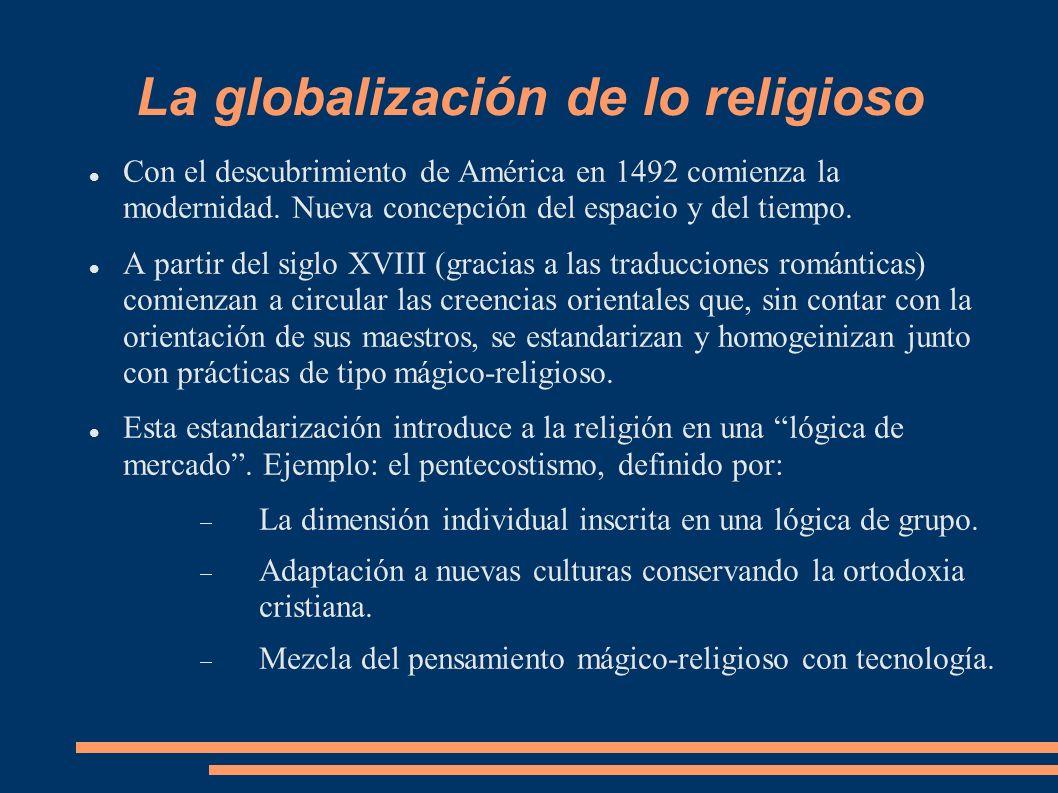 La globalización de lo religioso