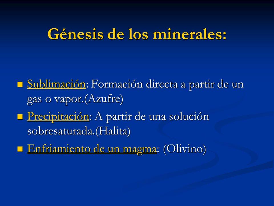 Génesis de los minerales: