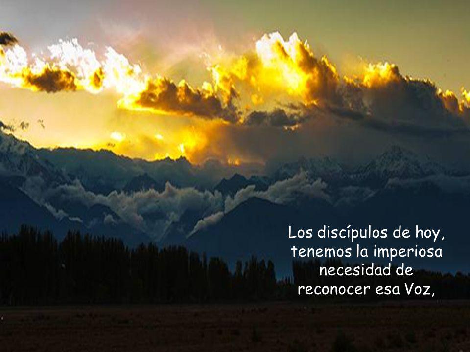 Los discípulos de hoy, tenemos la imperiosa necesidad de reconocer esa Voz,