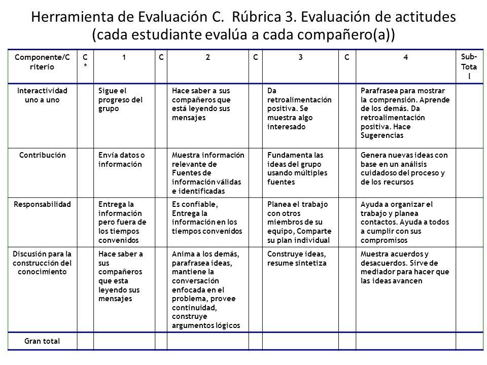 Herramienta de Evaluación C. Rúbrica 3